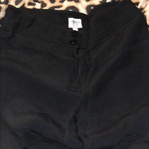 Armani collezioni black dress pants